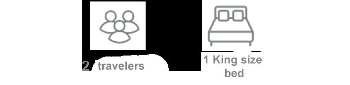 gites arles icônes : 2 voyageurs / 1 lit double