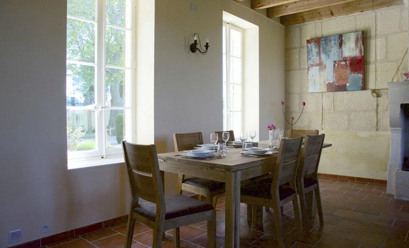 salle a manger Gîte Provence Mas de l'Hermitage