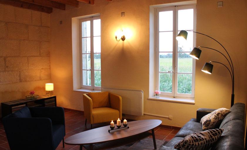 salon Gîte Provence Mas de l'Hermitage