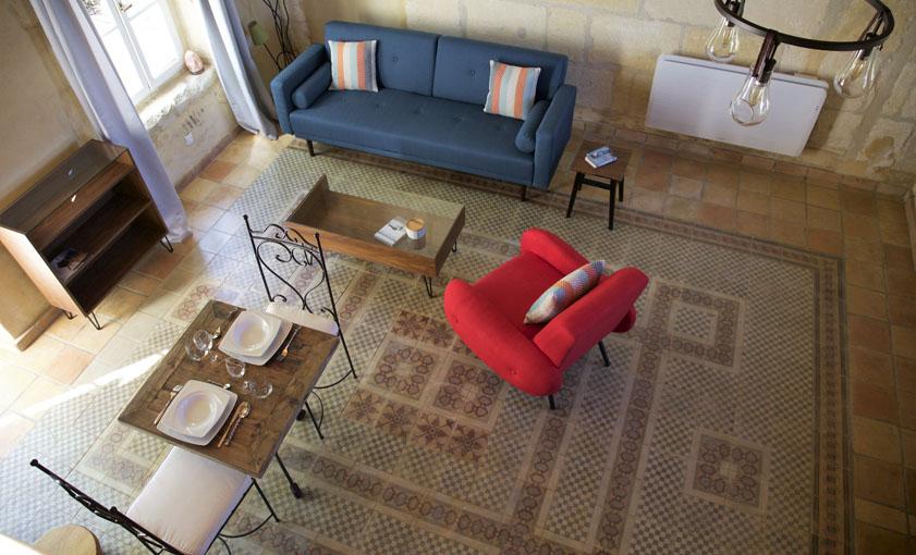 Salon Gîte Camargue Mas de l'Hermitage